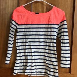 CLASSIC 3/4 SLEEVE SAILOR TOP COLOR BLOCK